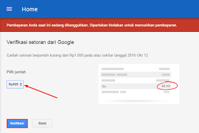 Cara Menambah Metode Pembayaran Google Adsense IDR 21