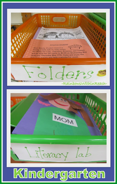 photo of: Use of Folders for Organization in Kindergarten