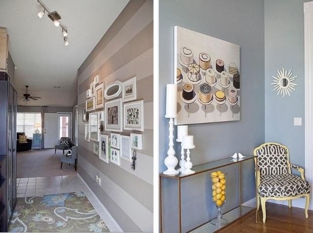 wandgestaltung flur wohndesign. Black Bedroom Furniture Sets. Home Design Ideas