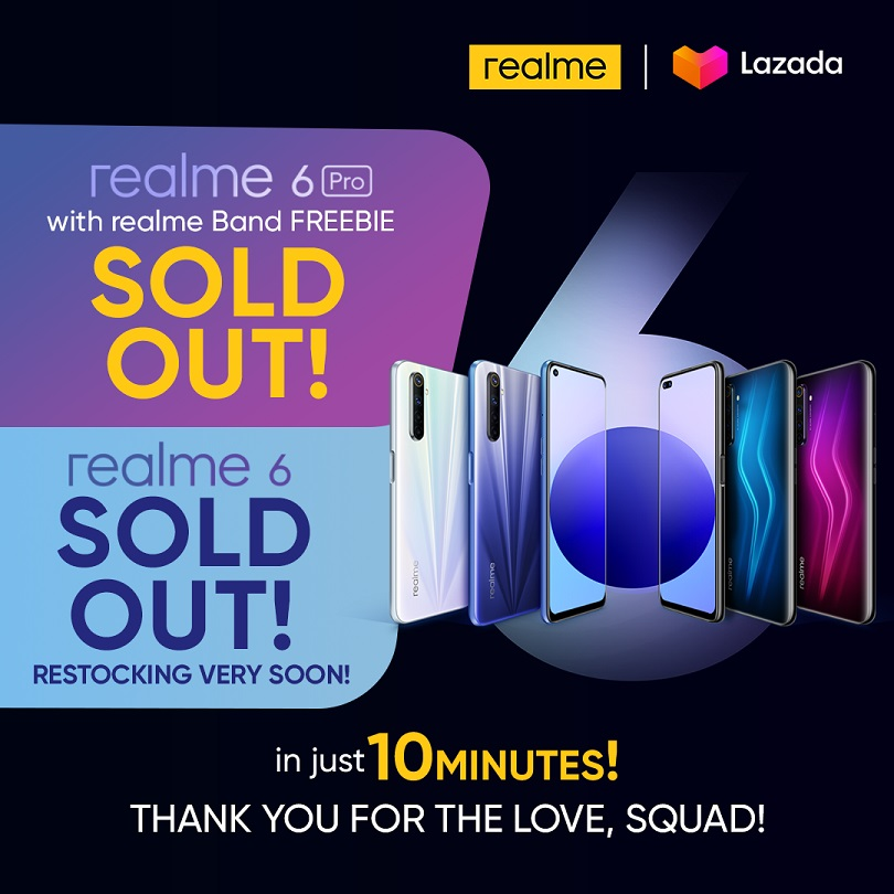 realme 6 series sold out