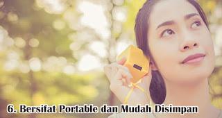 Bersifat Portable dan Mudah Disimpan adalah kelebihan dari speaker bluetooth
