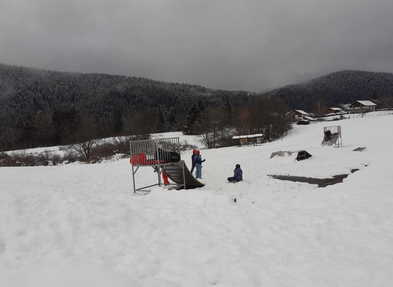Le petit skate-park au Sappey près de Grenoble