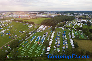 Ariel Shot Camping F1 British Grand Prix
