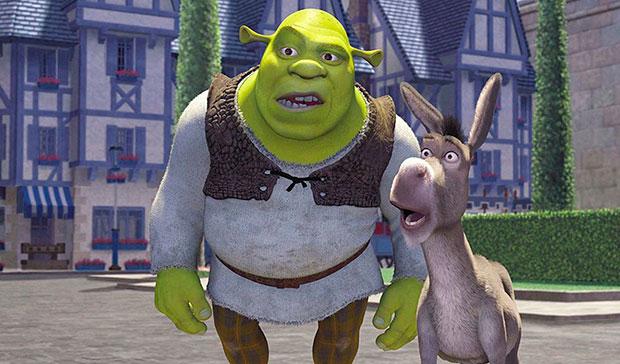 Imagen con los protagonistas de la película Shreck