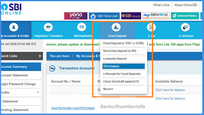 Get Interest certificate from SBI using Net Banking