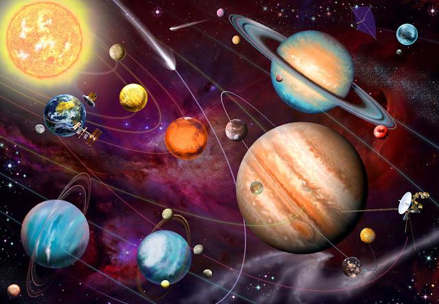 aurinkokunta aurinko planeetat lasten