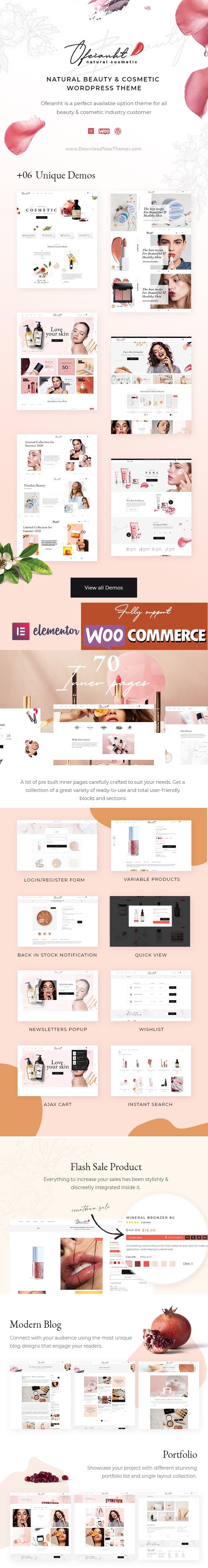Ofeianht - Natural Cosmetics WordPress Theme