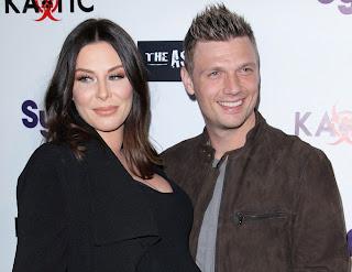 Lauren Kitt with her husband Nick Carter