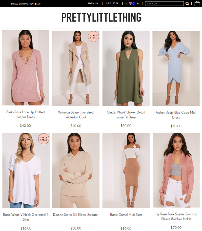 Pretty Little Thing Online Store Review Australia