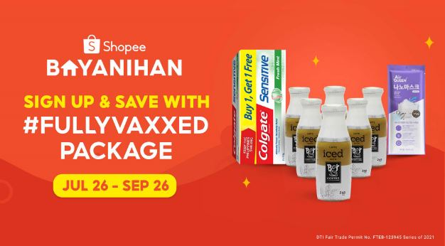Fully vaccinated? Grab your digital package from Shopee