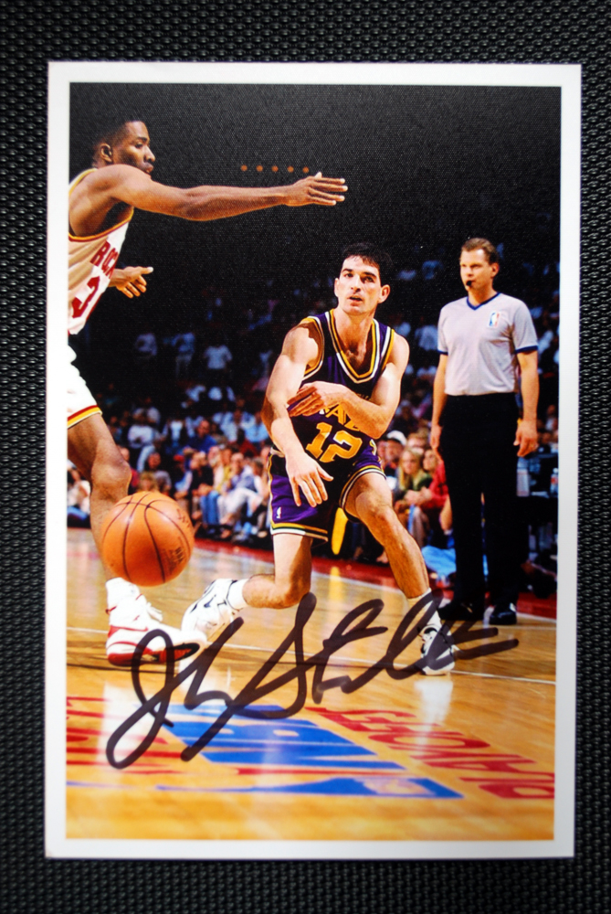 Mark S Ttm Autograph Collection John Stockton
