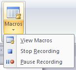 Ms Word Macros Option