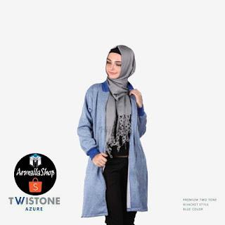 Hijacket Twistone Azure Jaket Syar'i