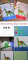 Drawstring Bag for Kids Tutorial