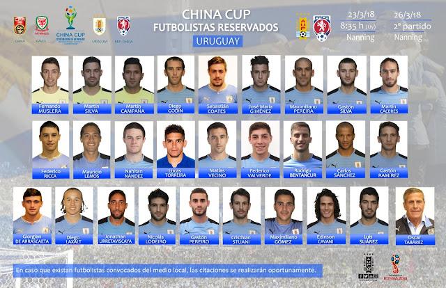 seleccion uruguaya - china cup