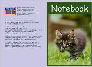 Cuaderno en blanco. Notebook para regalar de gatito