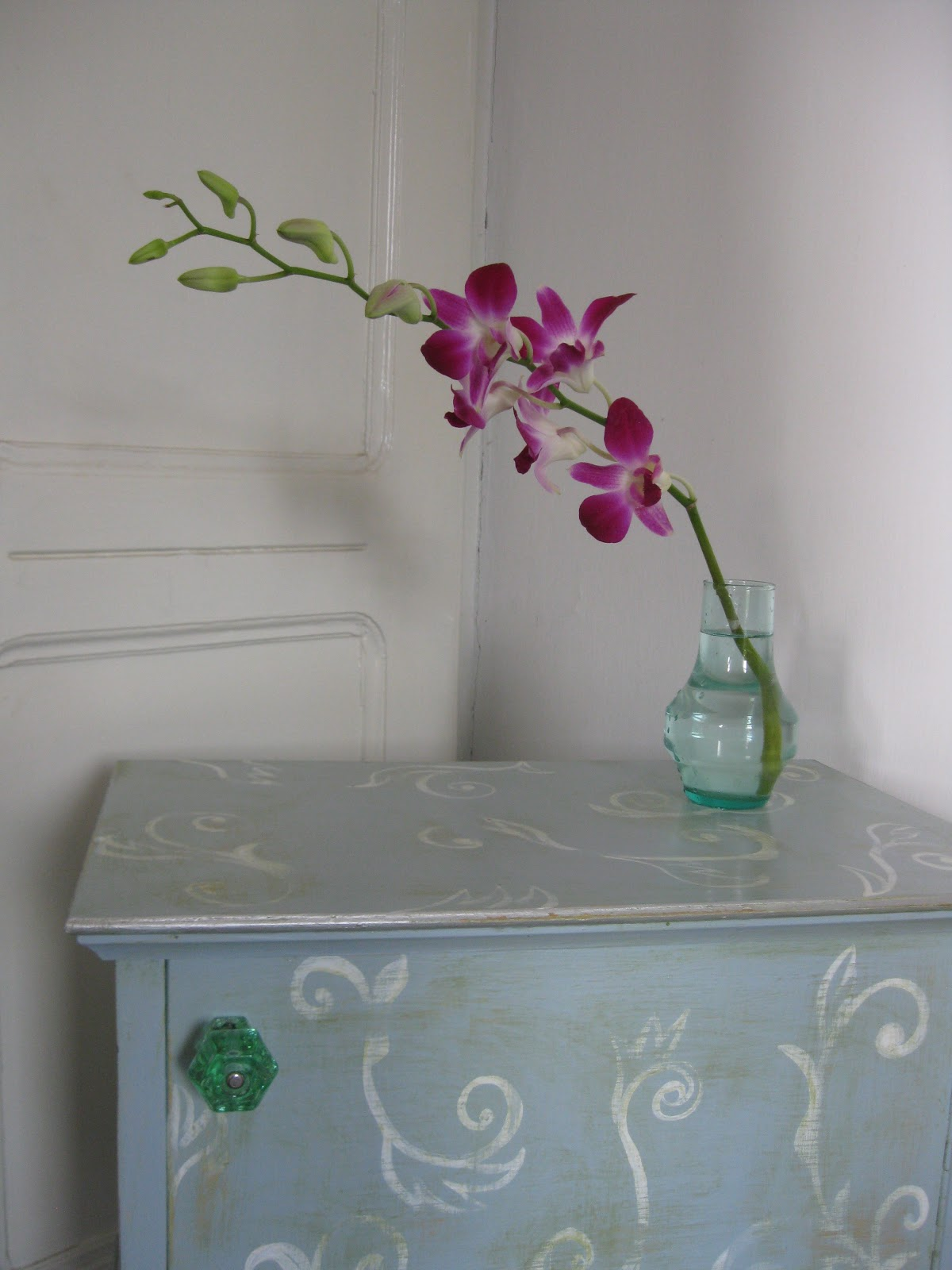 Sette Design How To Faded Pattern On Shabby Chic Furniture