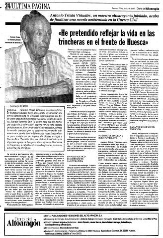 Fañanás: Antonio Trisán Viñuales, un maestro altoaragonés jubilado