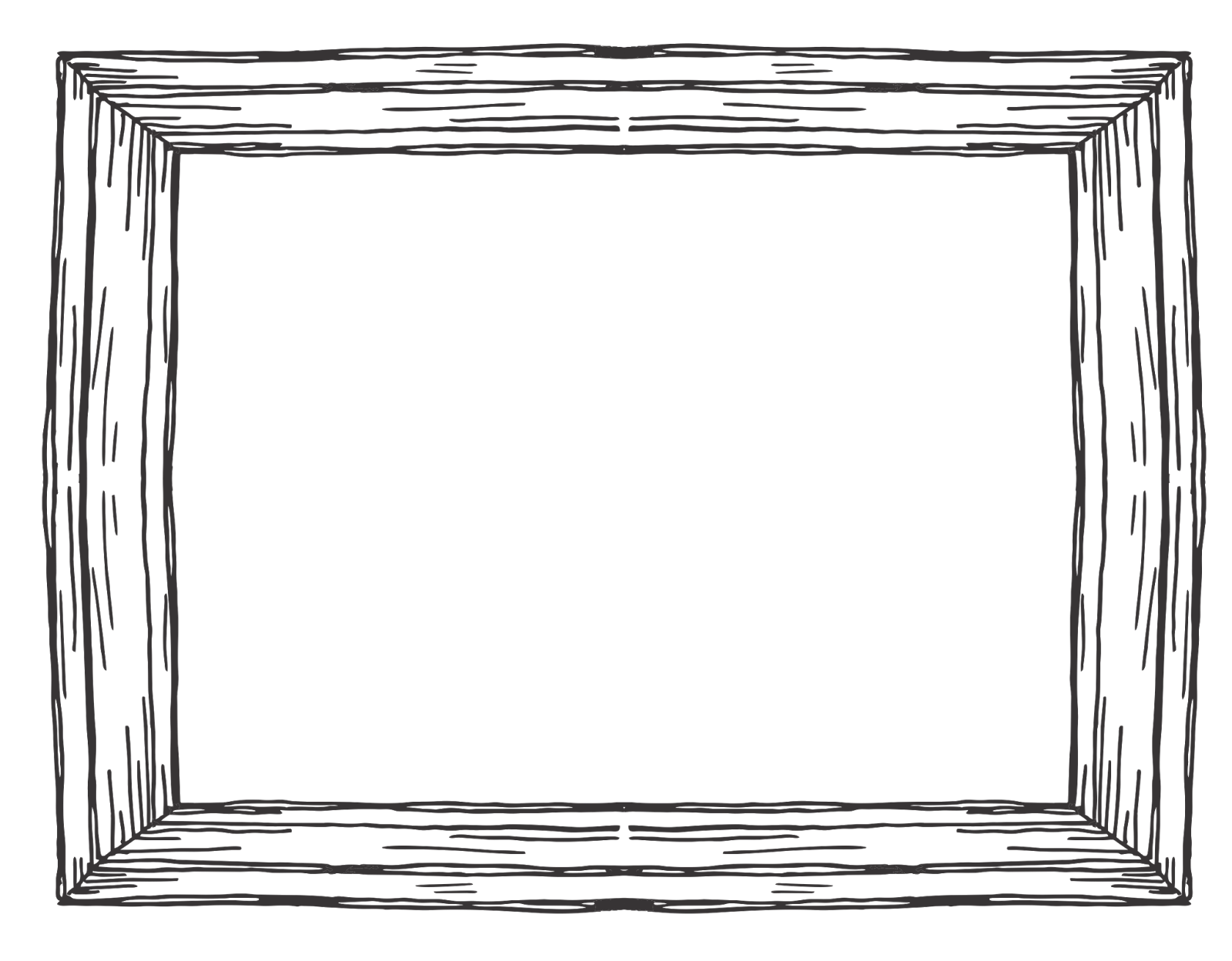 Black Wood Frame Png. Wooden Rectangular Frame Black Wood Png