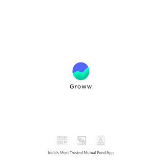 This is the very first look of Groww App while it opens on mobile to use.