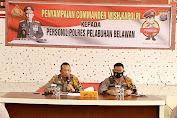 Kapolres Pelabuhan Belawan Sampaikan Commander Wash Kapolri
