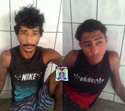 Polícia prende dupla roubando telhas na cidade de Buriti-MA