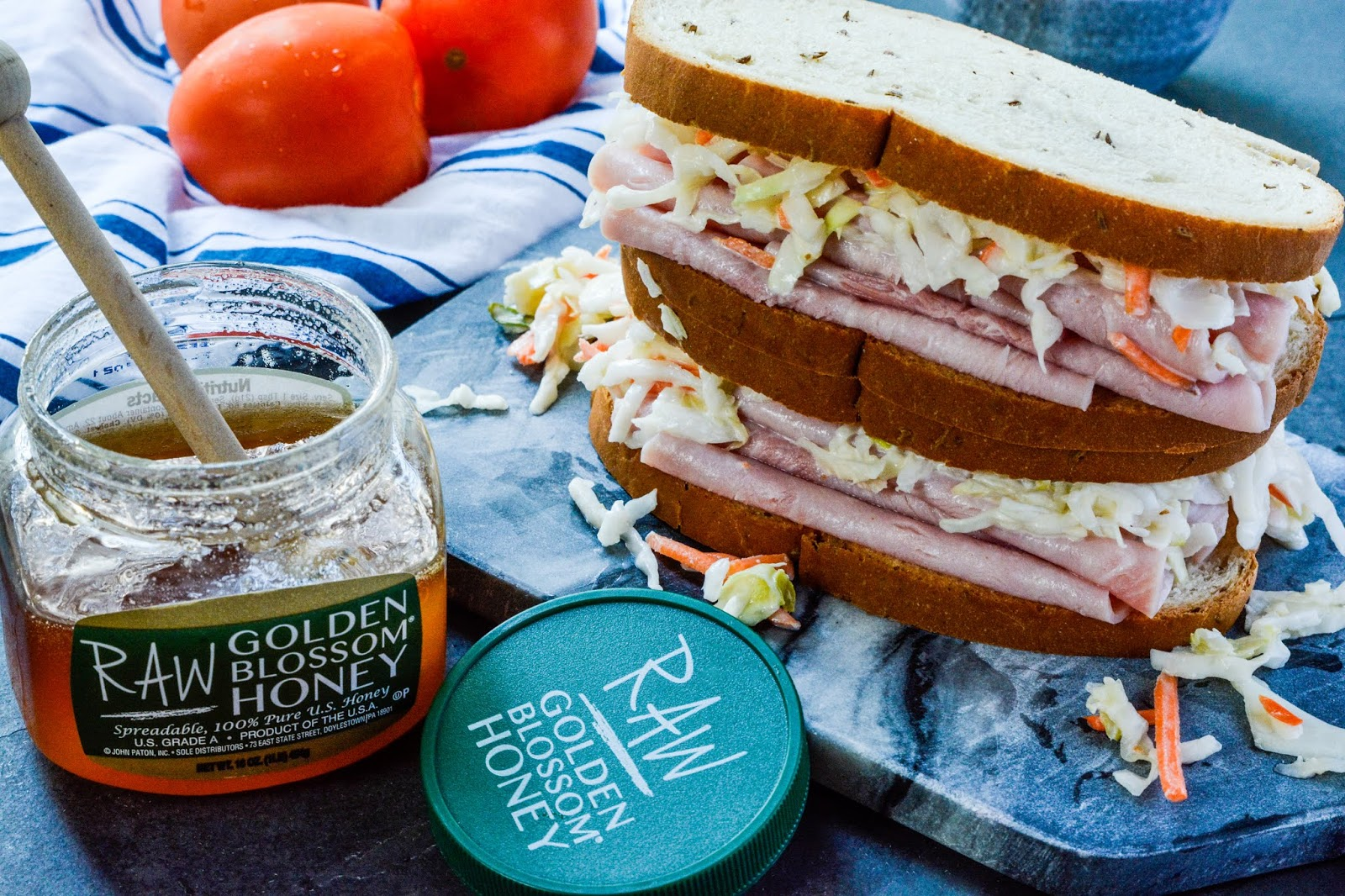 Ham Sandwich with Coleslaw
