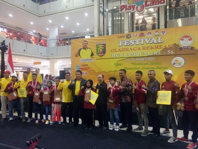 Festival Olahraga Rekreasi dalam rangka Hut Lampung ke- 56