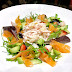 Smoked salmon & avocado salad with 'pineapple & crab flower'