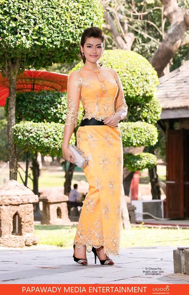 Ei Chaw Po Celebrity of The Week Amazing Photoshoot and Beautiful Myanmar Dress
