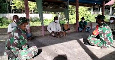 Anggota Koramil 25/Glumpang Baro Silaturrahmi ke Pesantren