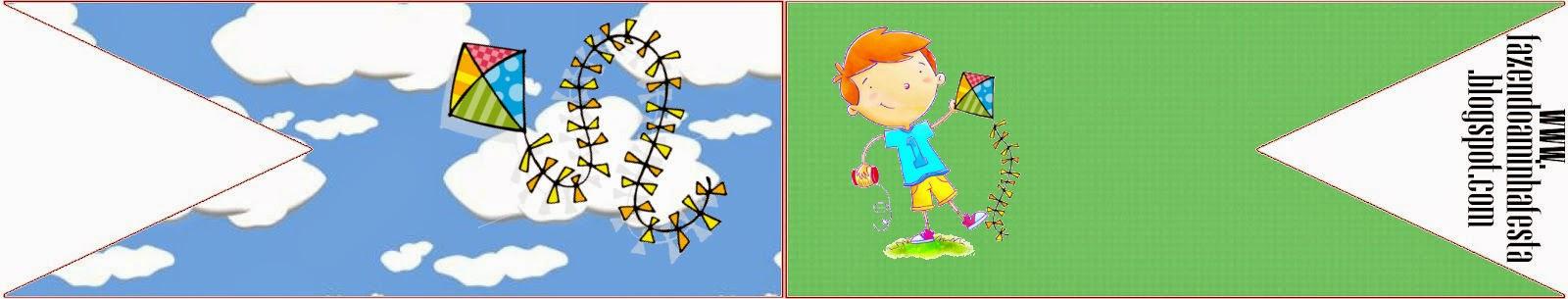 Niño con Cometa: Imprimibles Gratis para Fiestas.