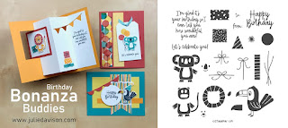 Stampin' Up! Bonanza Buddies Birthday Card Kit  ~ 2020 Spring Mini Catalog ~ Stamp of the Month Club Card Kit ~ www.juliedavison.com