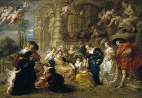 #PraCegoVer: O jardim do amor, pintura de Rubens.