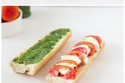 Caprese Sandwich with Parsley Pesto