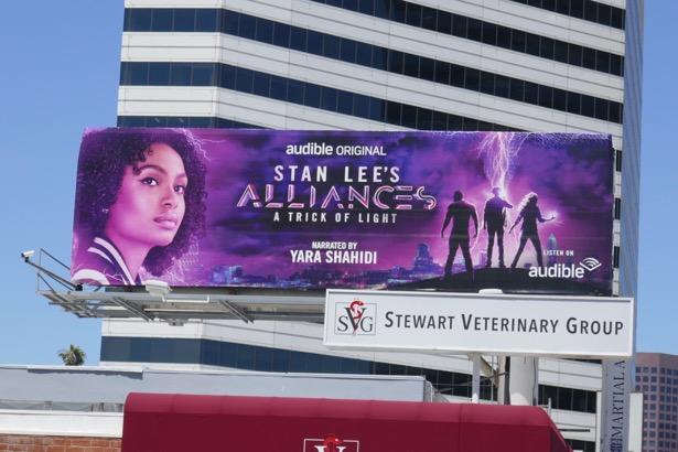 Stan Lee Alliances Audible billboard