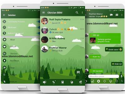 BBM Mod MI-Green Ocean v3.2.5.12 Full Feature Apk Terbaru
