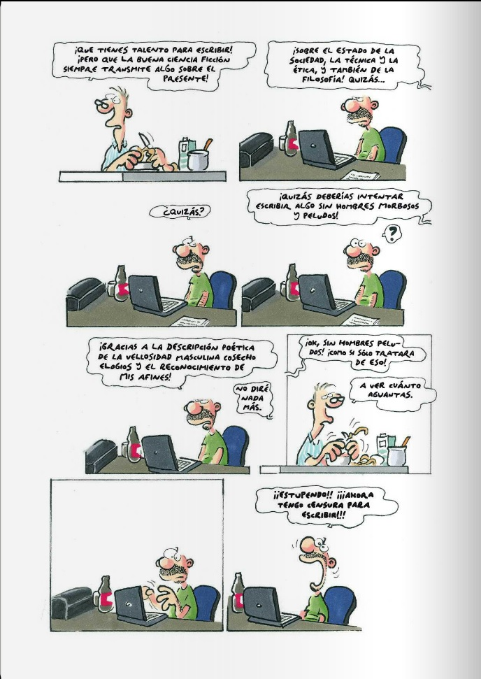 """Crítica de """"Barry Kojonen  En El Espacio nadie puede Oírte Gemir"""" (Ralf  König) por Javier Ludeña Fernández 67e8c894496"""