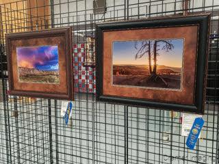 Photo of 2 Cramer Imaging landscape photographs receiving blue ribbon awards at Garfield Utah County Fair 2020