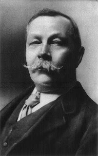 Sir Arthur Conan Doyle, pictured in 1914, aged 55