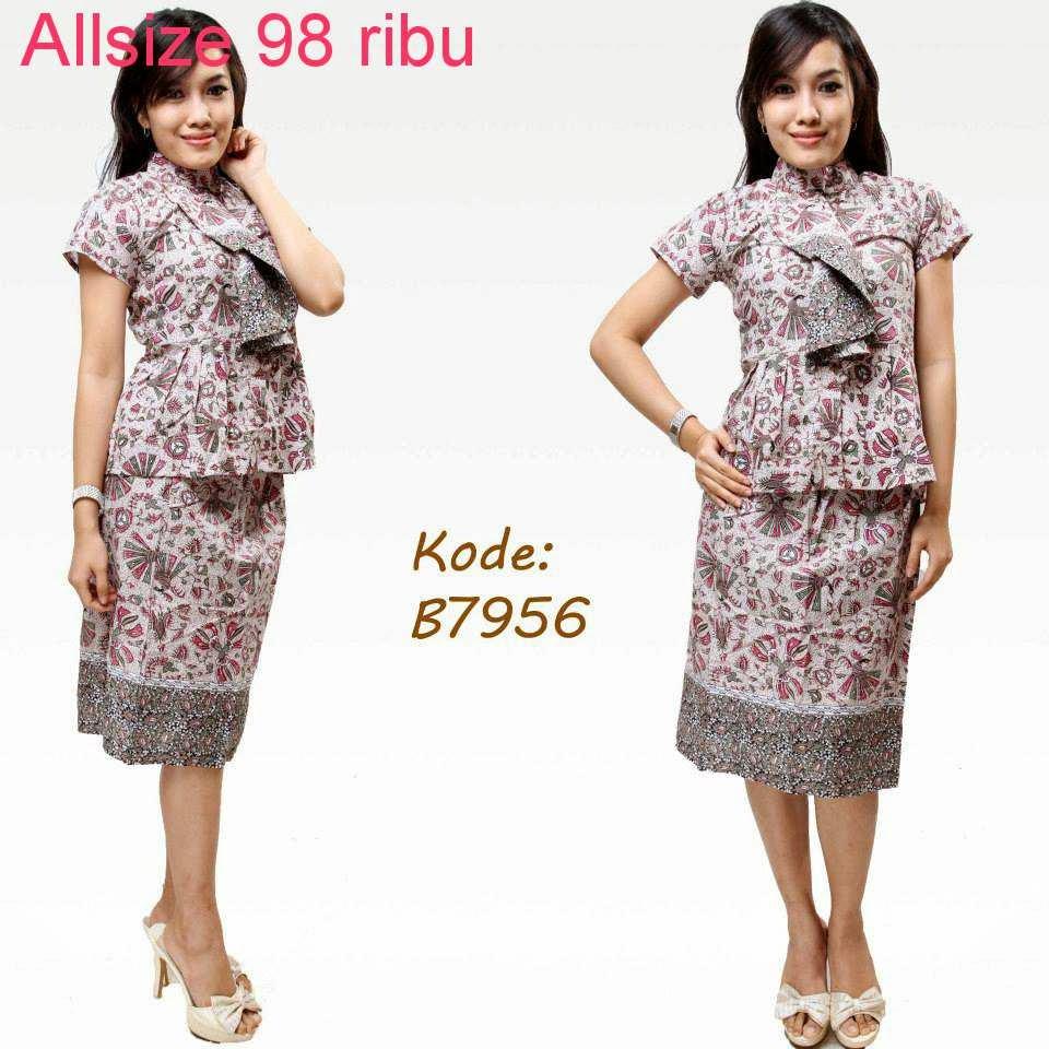 Model Baju Batik Semi Formal: Contoh Model Baju Batik Untuk Kerja