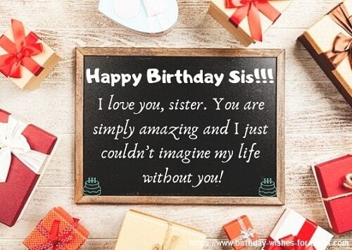 Happy Birthday Wishes For Sister Images