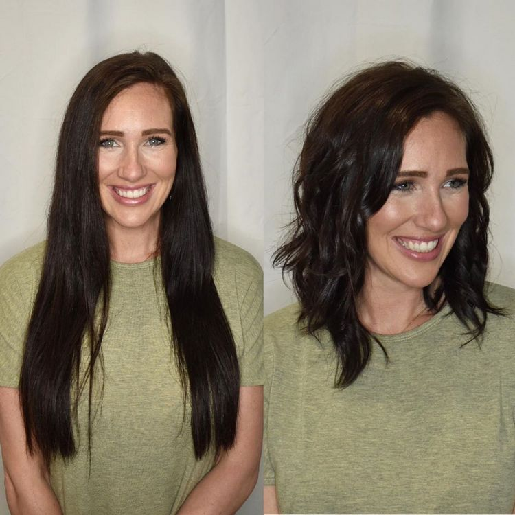 Long vs short hair women
