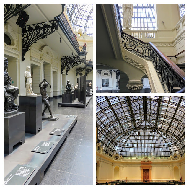 Why visit Santiago: Collage of artwork and architecture at the Museum of Belle Artes in Santiago Chile