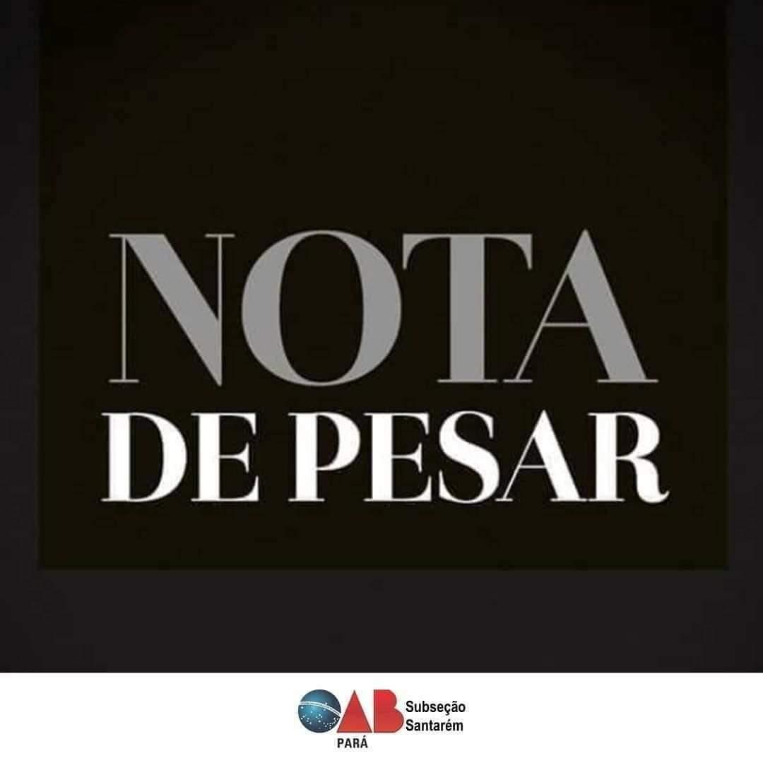 Nota de Pesar. OAB comunica o falecimento de Silvino Soares Diniz