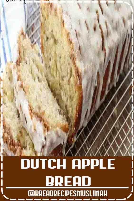 Dutch Apple Bread made from scratch with butter, sugar & fresh apples. Amazing flavor in this apple quick bread recipe topped with a cinnamon streusel & drizzled with warm vanilla glaze. #baking #bread #apple #cinnamon #easy #recipe from BUTTER WITH A SIDE OF BREAD   #Bread #Recipes #easy #loaf