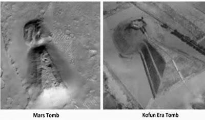 Estrutura enorme, parecida a antigo templo japonês, foi descoberta em Marte