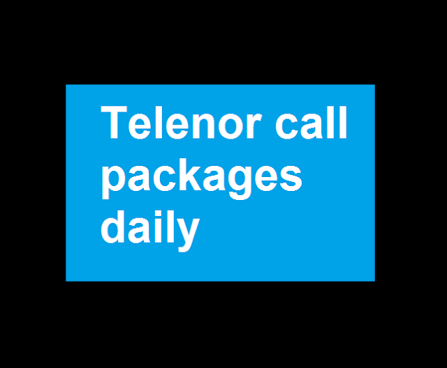Telenor call packages daily