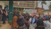 Breaking News: Protest On-Going at Lagos Study Centre Now.!