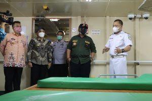 Gubernur Arinal Tinjau Kapal KM Lawit untuk Isolasi Pasien Covid-19